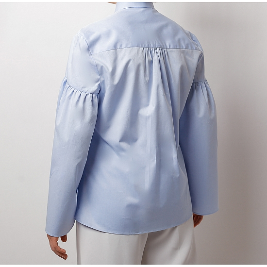 Blue shirt with puffy sleeves ZETA 4