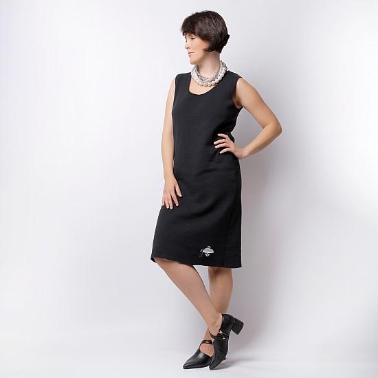Rochie neagra din tricot TIFFANY 2