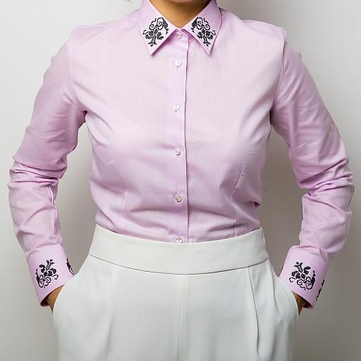 Camasa roz brodata Grandeur
