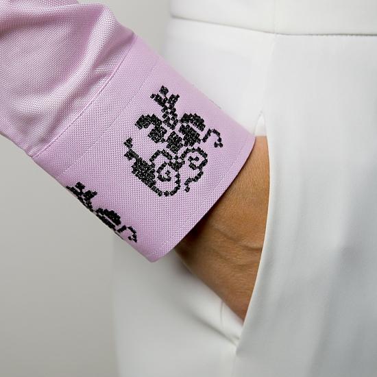 Camasa roz brodata Grandeur 1