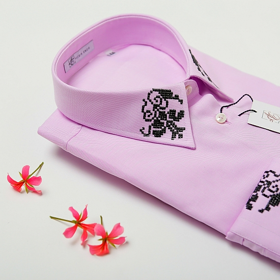 Camasa roz brodata Grandeur 3