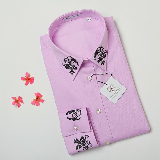 Camasa roz brodata Grandeur 4