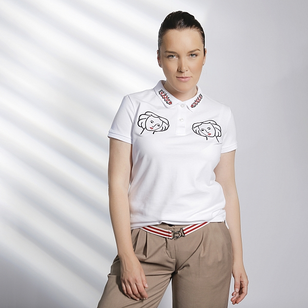 MATISSE organic cotton polo shirt