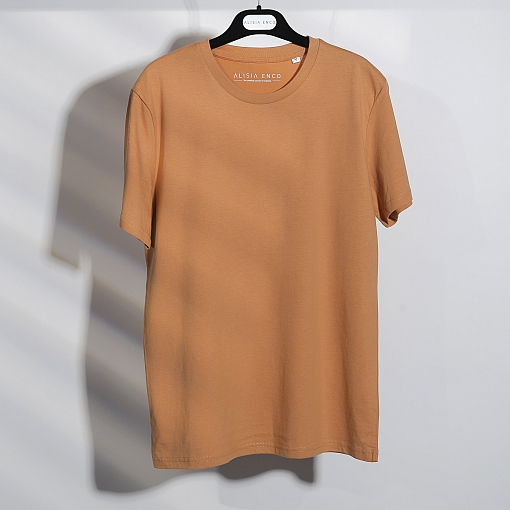 T-shirt caramel en coton bio