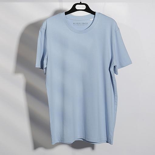 Tricou bleu din bumbac organic