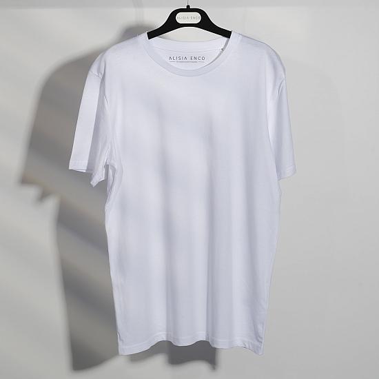 Tricou alb din bumbac organic 0