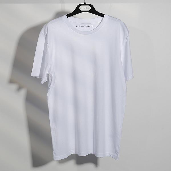 Tricou alb din bumbac organic