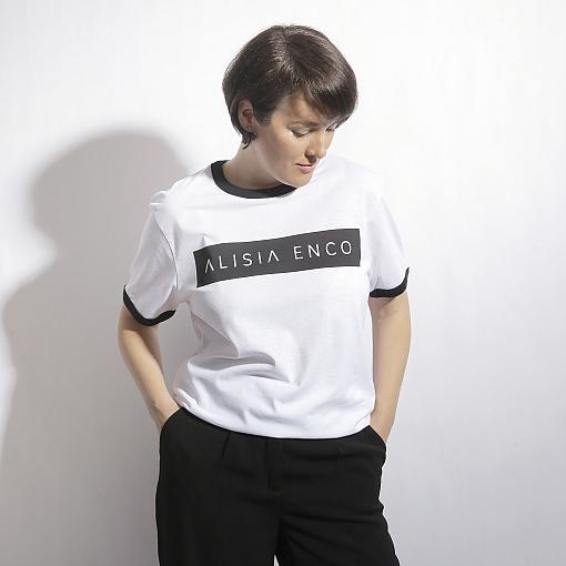 Tricou alb din bumbac organic ALISIA ENCO