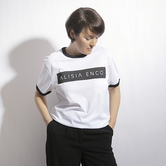 Tricou alb din bumbac organic ALISIA ENCO 0