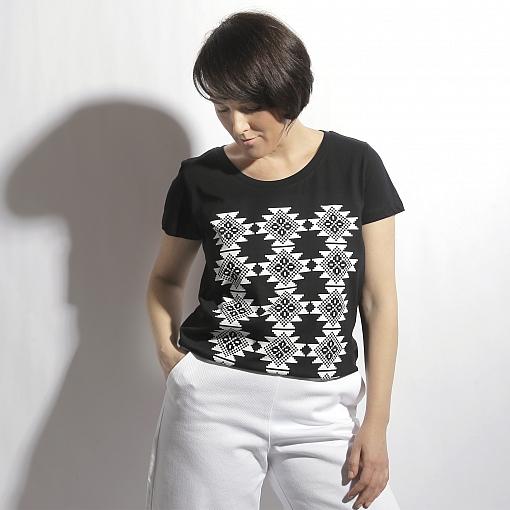 Tricou negru bumbac organic COVORAS