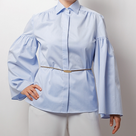Blue shirt with puffy sleeves ZETA 3