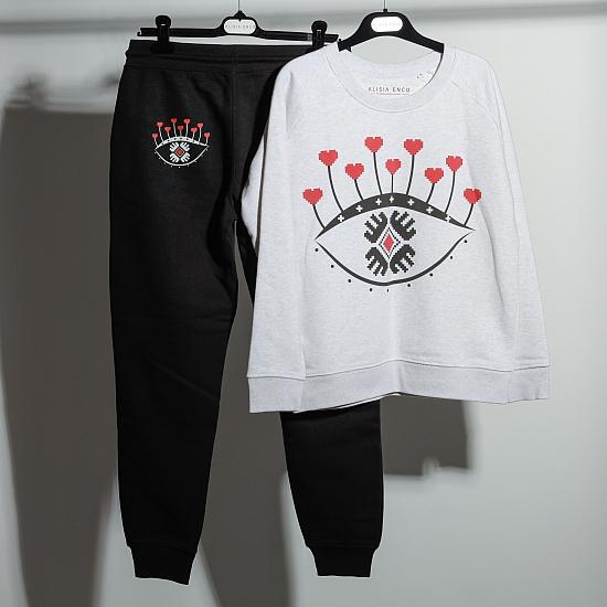 Pantaloni negri bumbac organic OCHIANA 1
