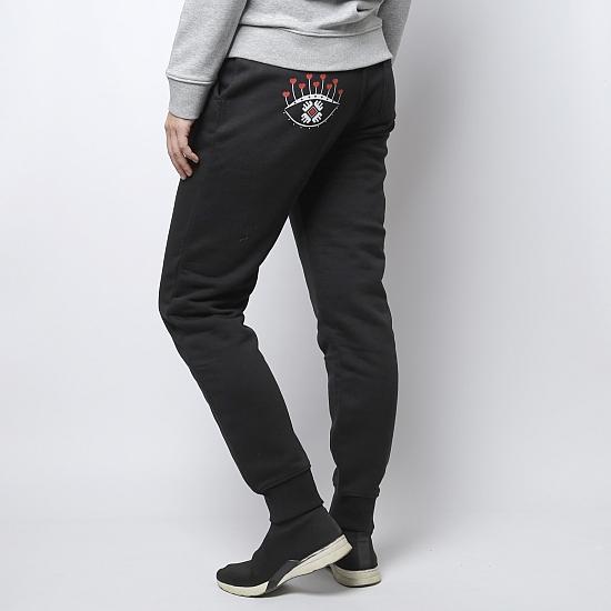 Pantaloni negri bumbac organic OCHIANA 4