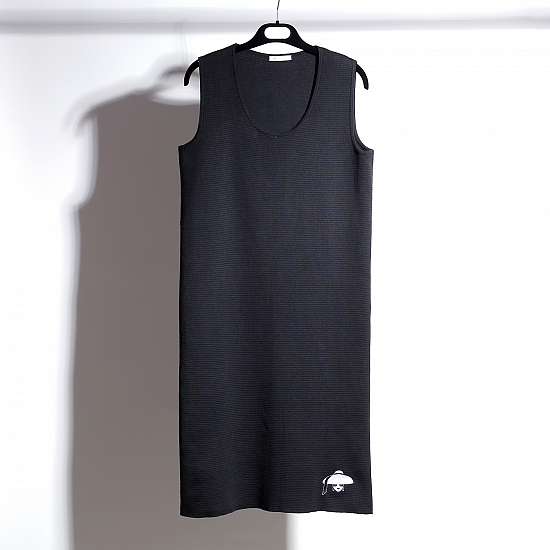 Rochie neagra din tricot TIFFANY 5