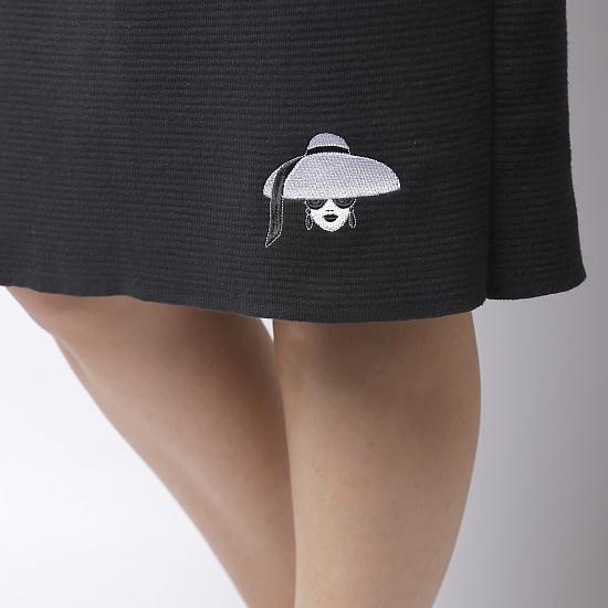 Rochie neagra din tricot TIFFANY 4