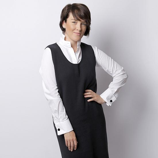 Rochie neagra din tricot TIFFANY 0