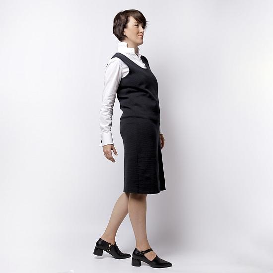 Rochie neagra din tricot TIFFANY 1
