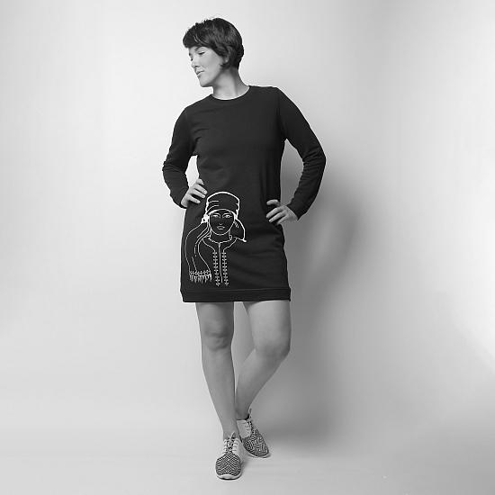 Black dress organic cotton ROMANA 3