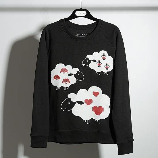 Bluza neagra bumbac organic OIANA 8