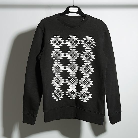 Bluza neagra bumbac organic COVORAS 4